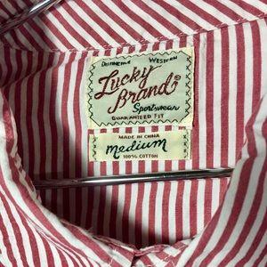 EUC Lucky Brand Distinctive Western Snap Shirt